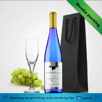 Luxury black wine bottle gift paper bag