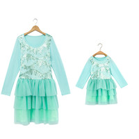 wholesale knit rayon mommy and me dress maternity and toddler dress