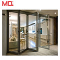Thermally efficient heat insulation aluminum glass folding sliding doors