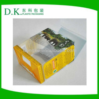 custom transparent hard pvc folding small clear plastic box