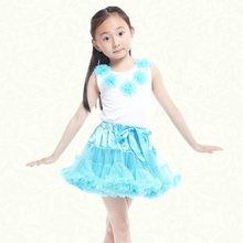 Pretty princess korean kids tulle tutu skirt flower little girl wedding pageant dress fancy dresses for girls clothing teenage