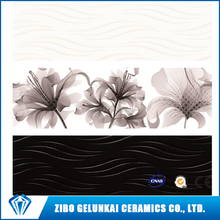 White and black Color With Decor Ceramics Wall Tiles For Bathroom from china