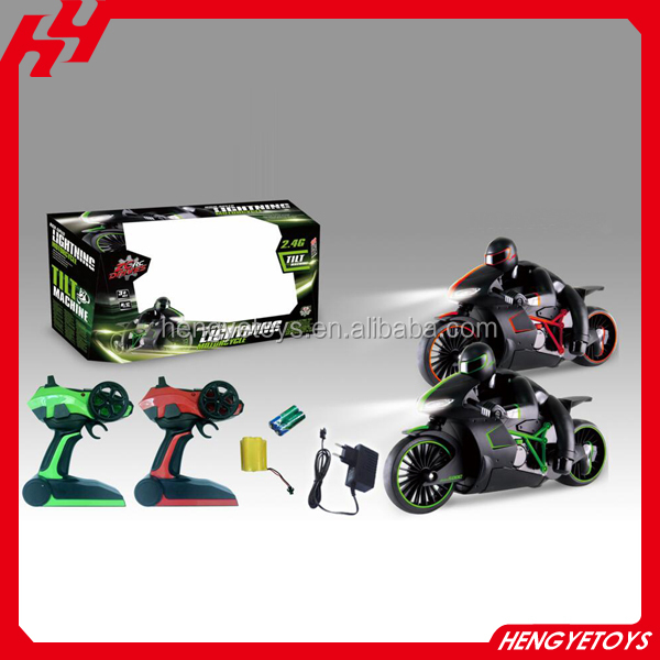 Exciting flash 20km/h high speed rubber grip tires rc motorcycle for sale
