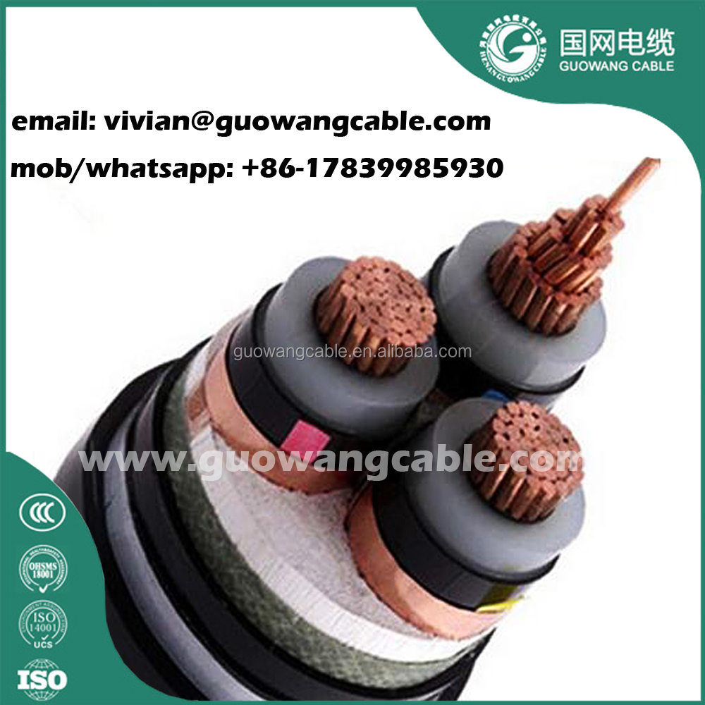 3.6/6 (7.2) KV XLPE Insulated Cable price list per meter 3 core AWG 0 25 35 sq mm