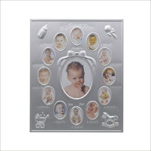 Newborn baby shower first year aluminum metal picture photo frame