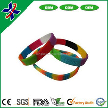 Assorted color silicone bracelet beautiful design bracelet