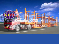Hot selling car hauler trailer/ high quality low price car carrier semi trailer