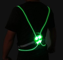 Hot Sale for Fun Run Cycling Jogging LED <strong>Safety</strong> Vest Reflective led vest