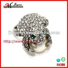 R4386 Jingmei Hot Style 2013 Wholesale Stylish Frog wedding Rings For Women