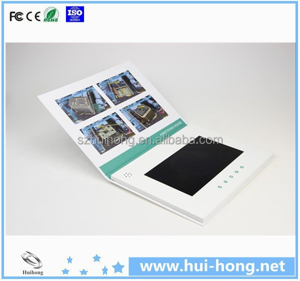 512 mb a5 card size 7 inch video in print video greeting card for business gift