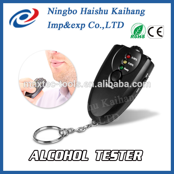 2015 Newest Keychain LED Breath Alcohol Tester / Breathalyzer Alcohol Tester / Alcohol Tester