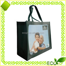 wholesale custom reusable pp non woven promotional gift cute tote beach recyclable handle shopping bags