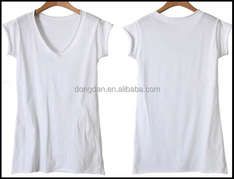 New design cheap custom tshirt and big neck t-shirt or loose v neck t-shirt with low prices made in China