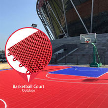 Super quality pp interlock sport basketball plastic floor for tennis court