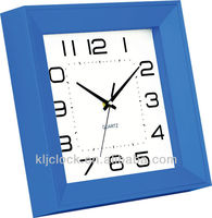 Modern Clock WH-6892A Blue Frame Square Shape