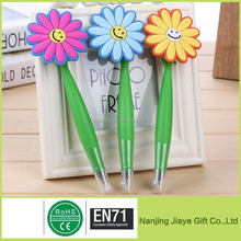 Novelty Flower Design Promotional Silicone Gel Ballpoint Pen