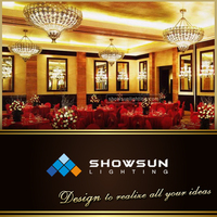 Most new fashion modern hotel art decoration wedding pendent lighting