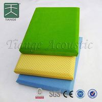 Soundproof fabric acoustic panel acoustic absorption coefficients fiberglass sound absorbing board wall coverings