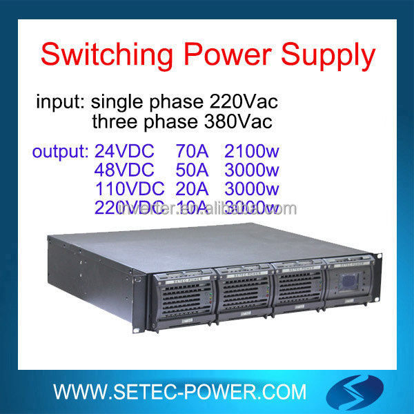 24Vdc switching mode power supply for telecom application 70A 2100W