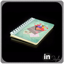 2017 hot sales hard cardboard cover spiral notebook colorful design style at cheap price