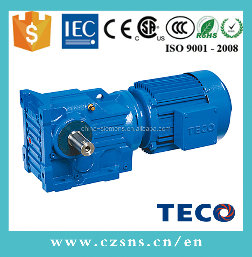 Taiwan TECO <strong>K</strong> serial helical bevel gearbox BK bevel gear box