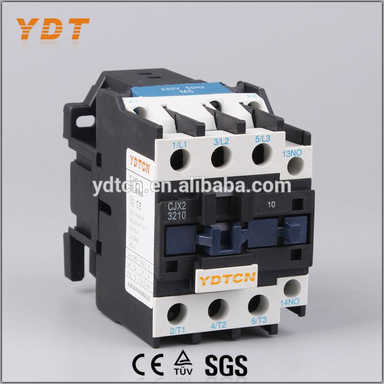 YDT ac contactor power contactor, electrical contactor cjx2-3210, ac3 contactor