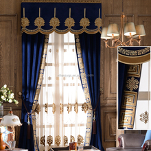 extraordinary grade European style blue opening and closing curtains