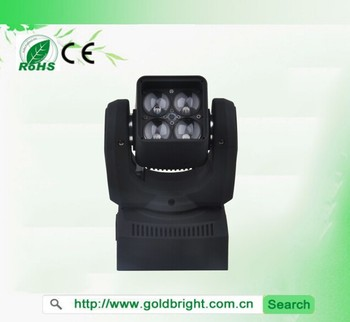 4x15Watt RGBW 4in1 ZOOM Led Moving Head Wash Mini Led Moving Lights