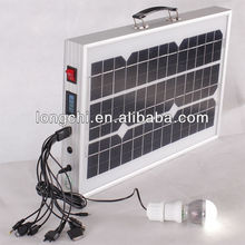mini mobile solar panel system for lamp and mobile phone