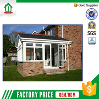Energy-saving double tempered aluminium glass house