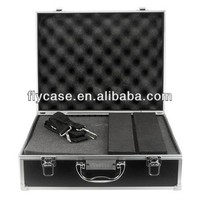 Video camera laptop aluminum case with foam insert and big handle