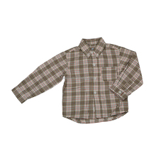 2017 New Fashion Baby Boys Blouse Long Sleeve Grid Shirt