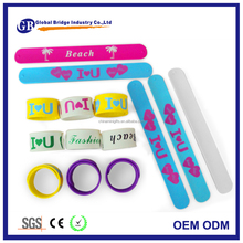 silicone slap bracelets slap wristband silicone snap band slap on wrist bracelet