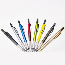 Promotional Multifunctional Screwdriver Ballpoint Pen Horizontal Capacitor Touch Screen Metal Scale Gift Tool Pen