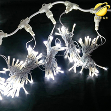Linkable White Christmas Curtain String Fairy Wedding Led Lights for Holiday, Party, Wall, Kitchen, Window Decorations