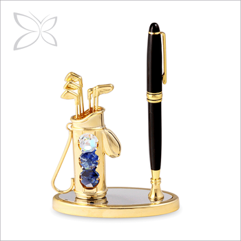 Luxury Extreme Gold Plated Crystals Fountain Pen Gift Box