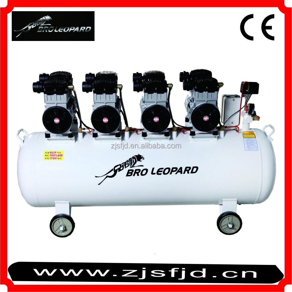 XDW1500x3 Oil-free Mute Air compressor with CE for AE, Food processing 4.5KW 120L spare parts for ingersoll rand air compressor