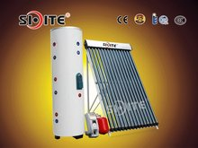 Solar Collector Water Heater with Double Copper Coils Type Stainless Steel Hot Water Storage Tank