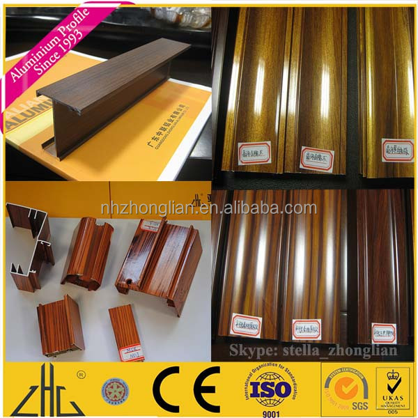 Wow!! 40 40 20 40 40 80 wood color t slot extrusion OEM , custom design factory t-slot aluminum extrusions with different sizes