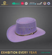 Hot selling wholesale custom made purple cowboy hat with ribbon made in China