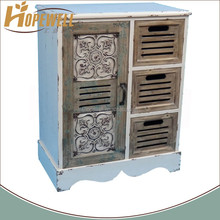 Custom shabby chic drawer small diagonal white wood corner cabinet