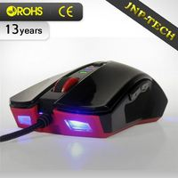 Newest Products Braided Wire Odm Usb Optical Mouse With Blue Led Light