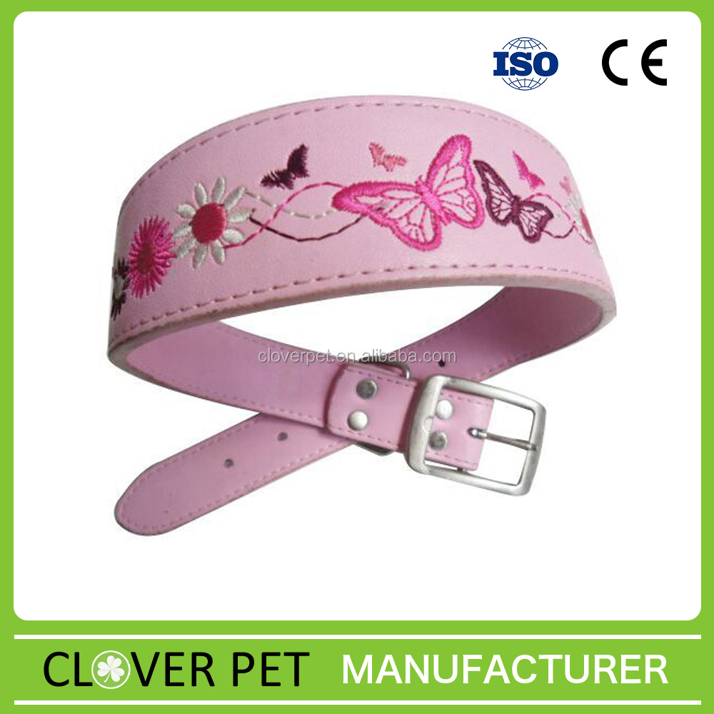 embroidered luxury dog collar