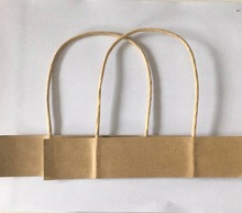 Direct factory twisted paper cord handles for shopping bag
