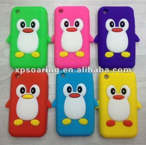 Penguin silicon case skin cover for iphone 3g 3gs