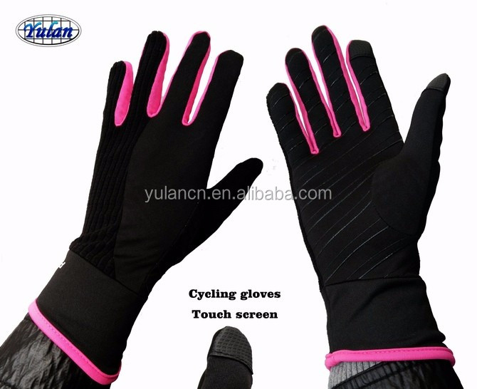 Yulan CG213 full finger cycling gloves touch screen fluorescent