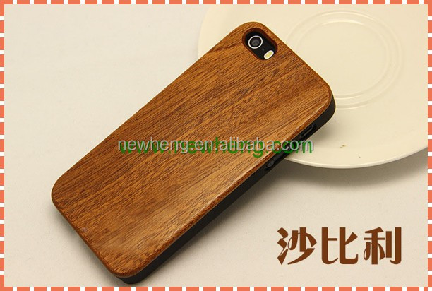 New arrive PC wood mobile case cover for iPhone 5