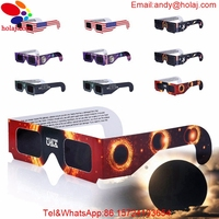 Fast Shipping 6pcs lot Multicolor Solar Eclipse Glasses Paper Solar Eclipse Viewing filter 3D eclipse glasses 100% Protect Eyes