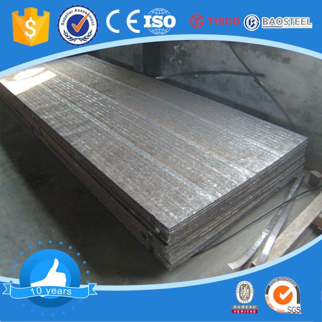 Chromium carbide overlay wear abrasion resistant hardfacing steel plate