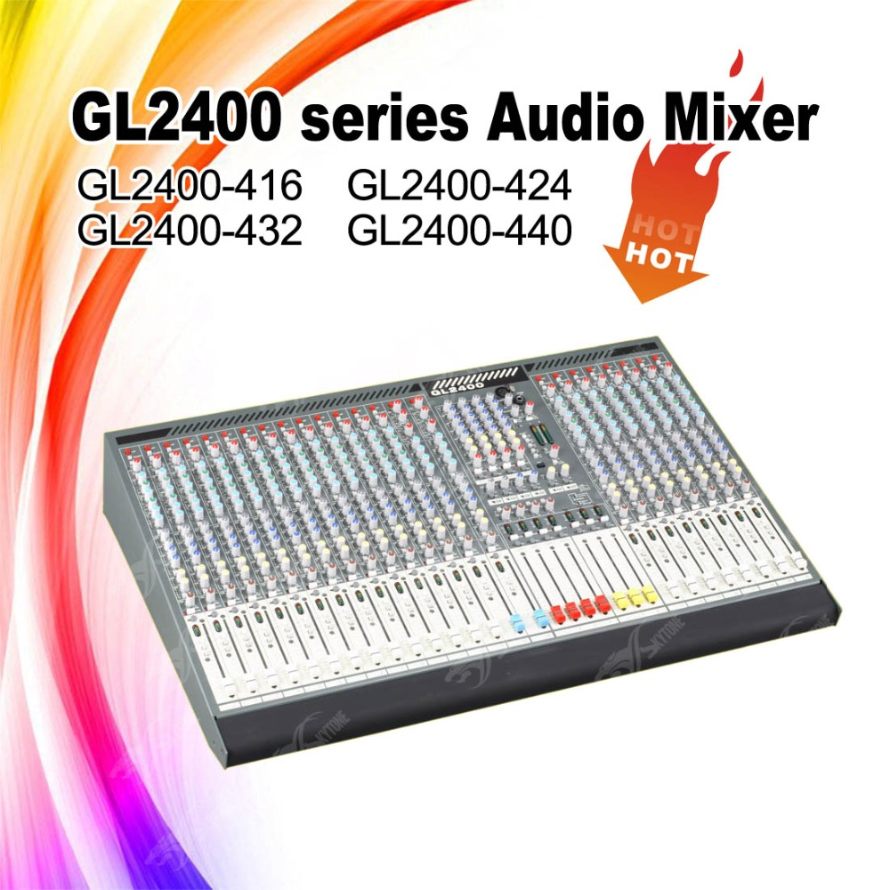 24channels GL2400 series sound audio mixer mixing console